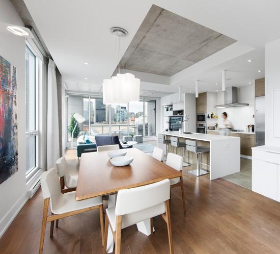 Design cuisine salle à manger contemporain
