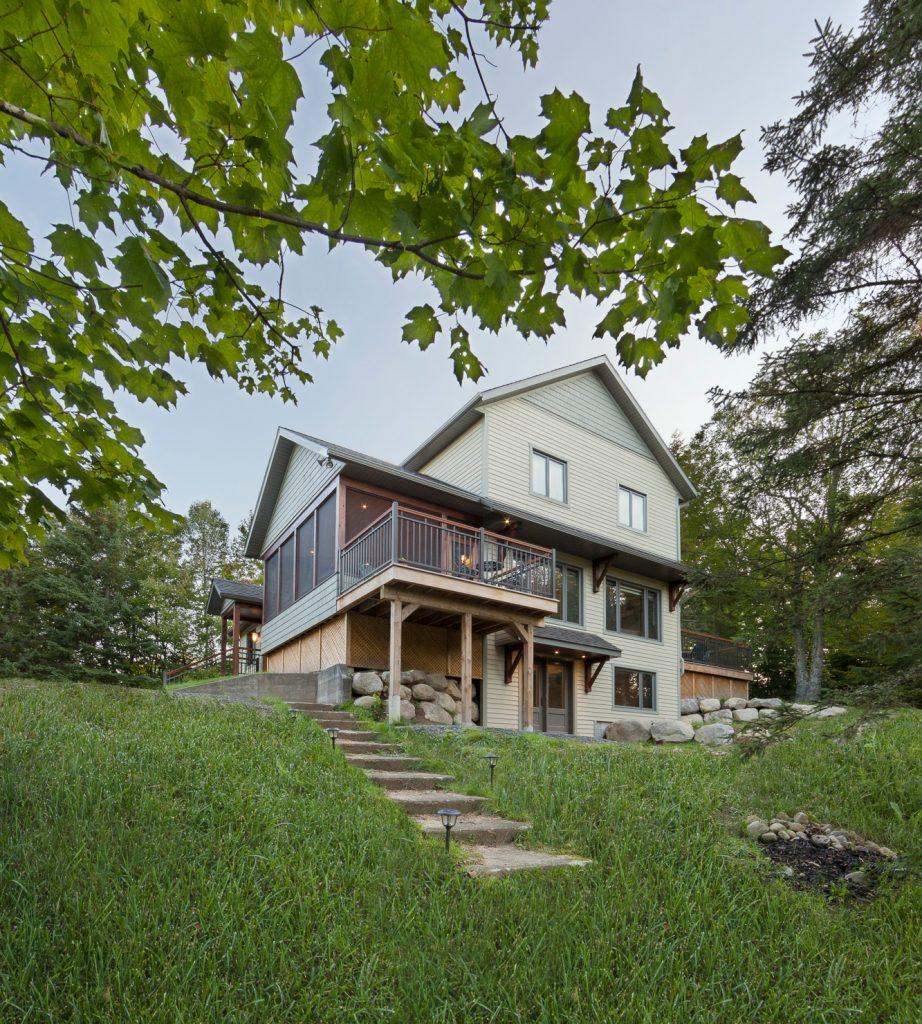 maison véranda moustiquaire nature