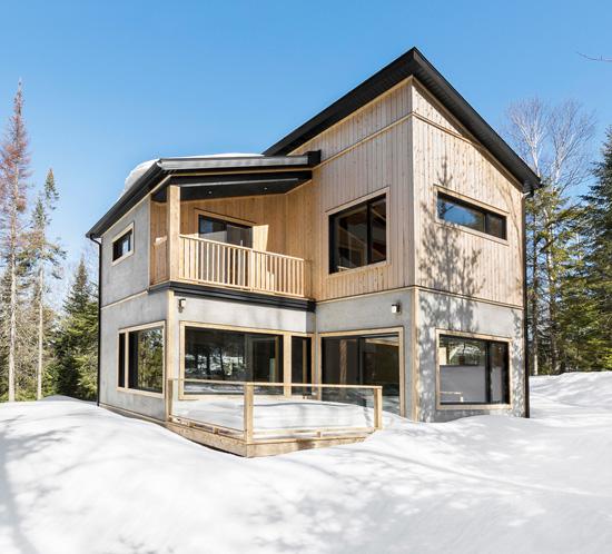 architecture résidence LEED bois nature hiver