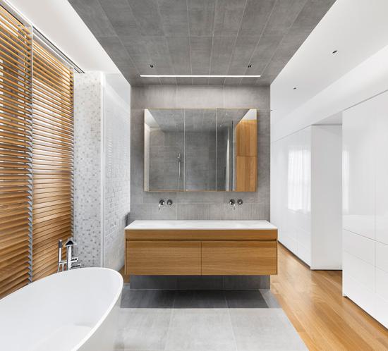 design salle de bain moderne bois céramique