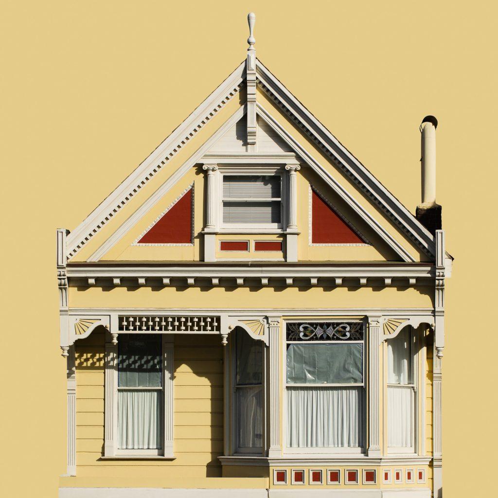 façade maison victorienne jaune Painted Ladies