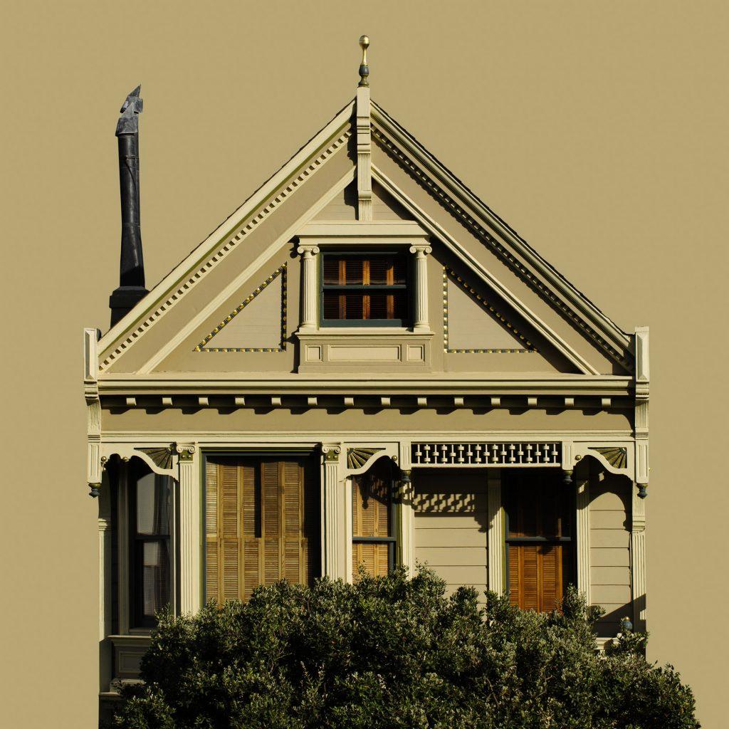 façade maison victorienne Painted Ladies arbre