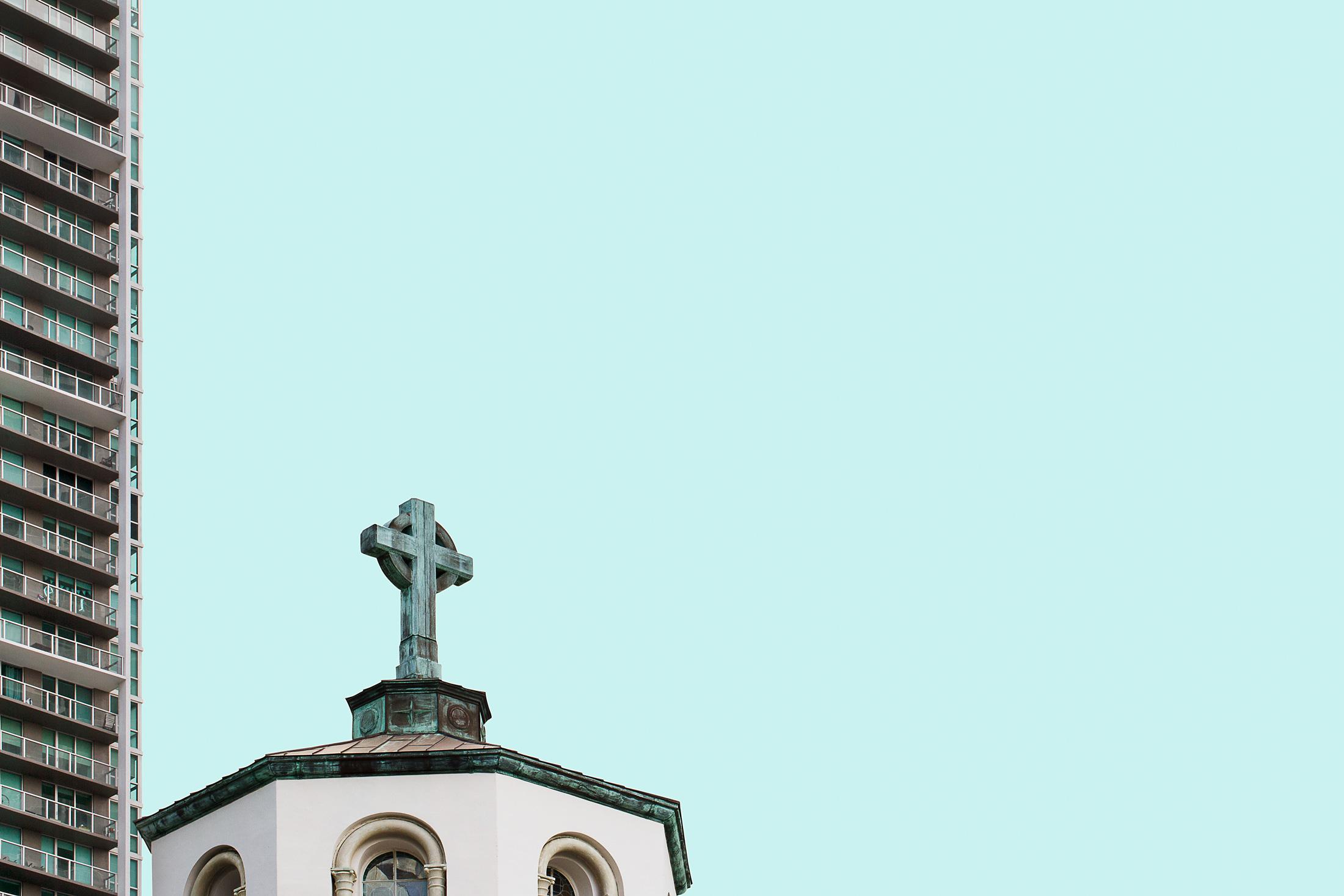architecture toit église gratte-ciel