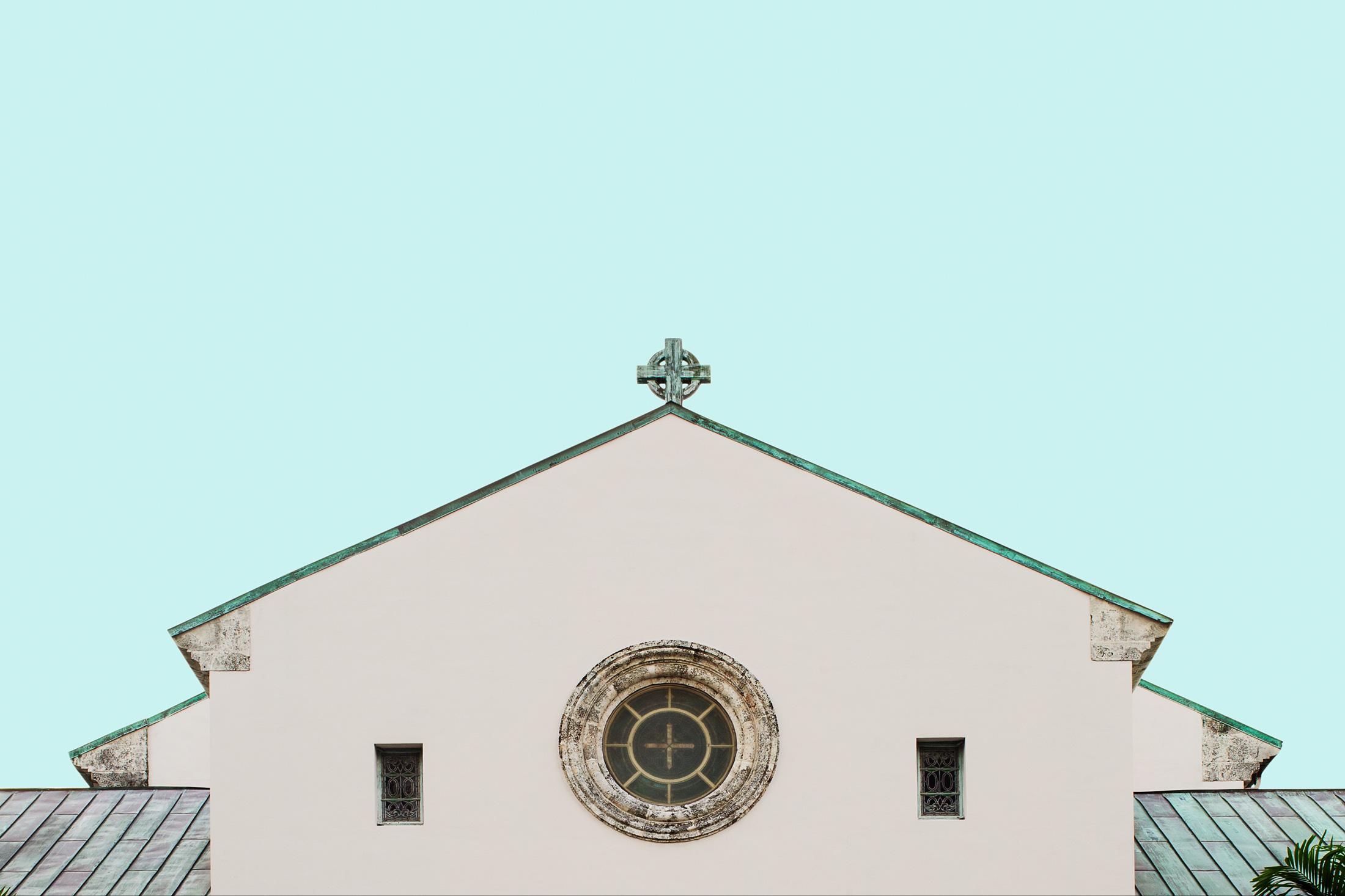 architecture église fenêtres symétrie ciel