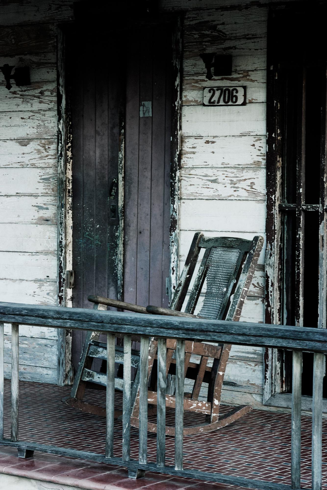 cuba maison chaise berçante balcon