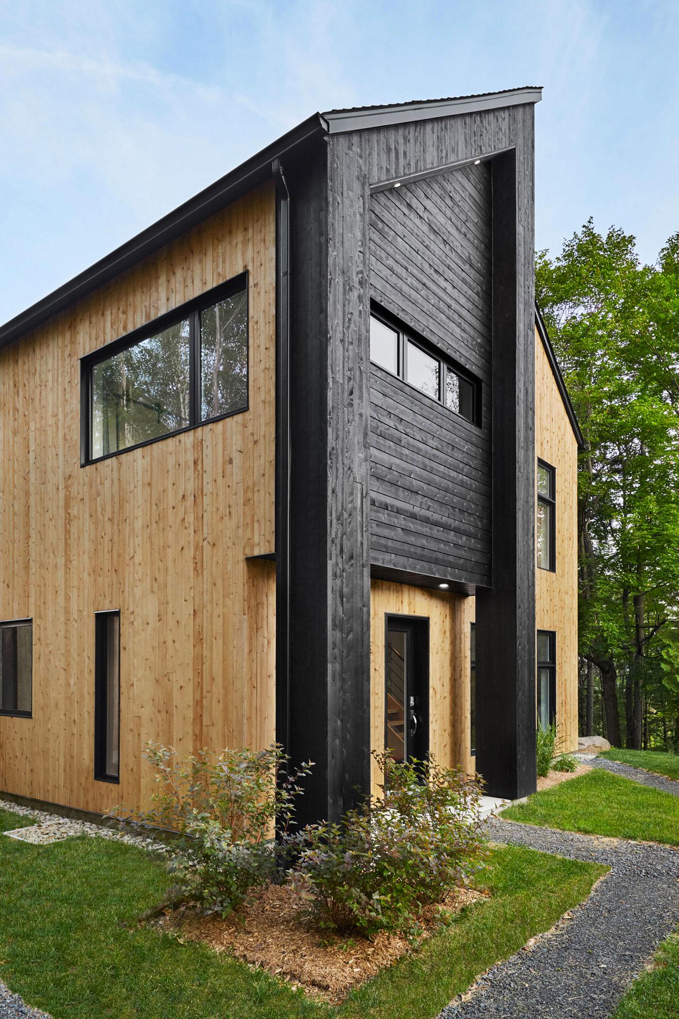 facade maison bois cedre pignon