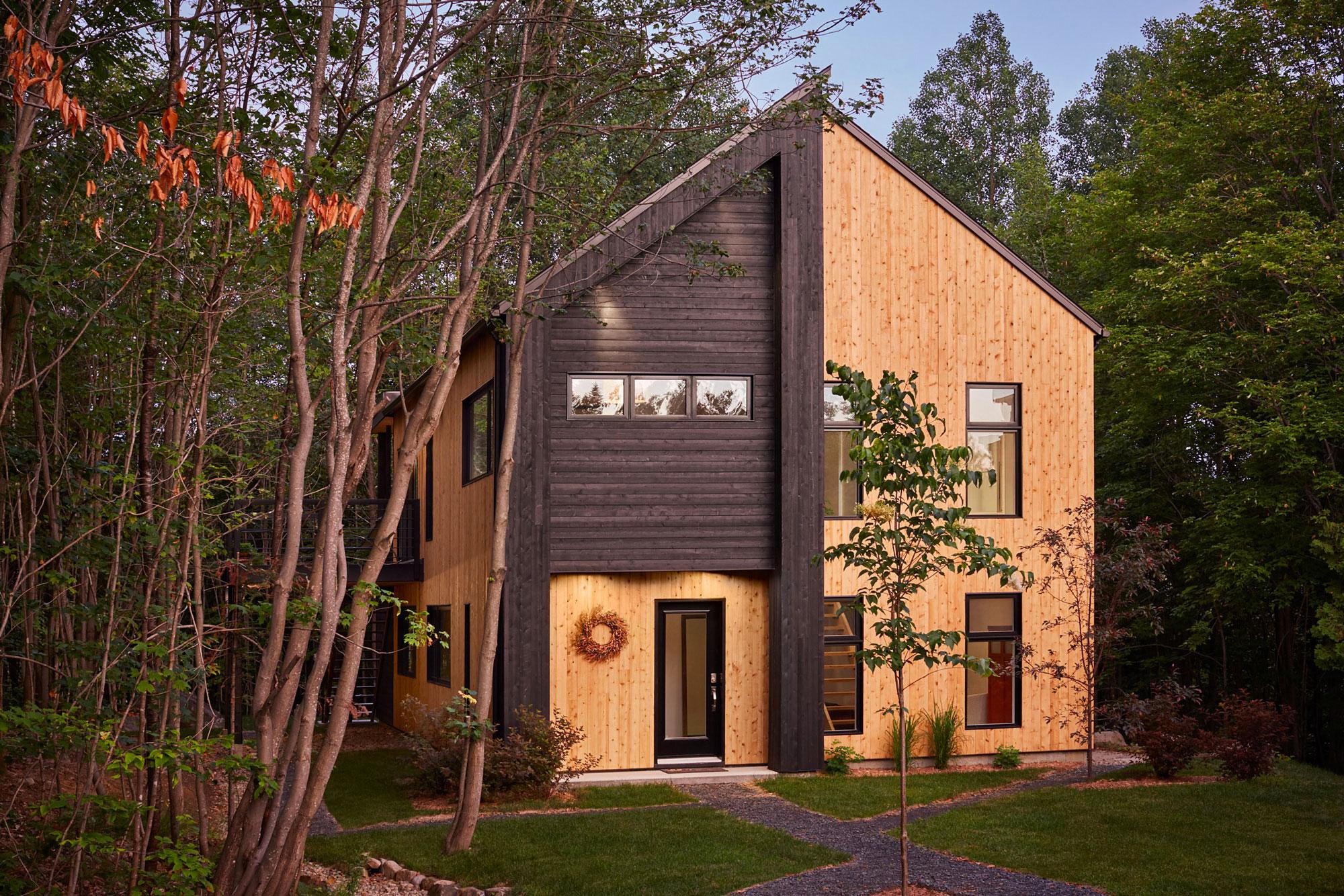 Maison bois cedre foret