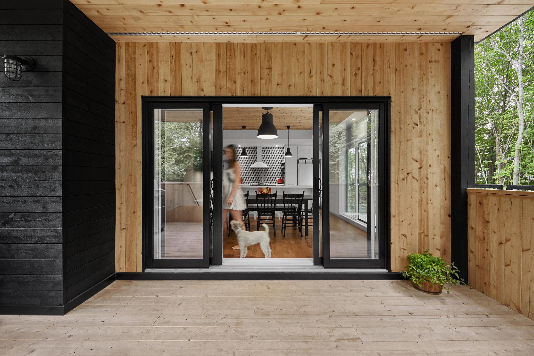 veranda maison porte patio cuisine