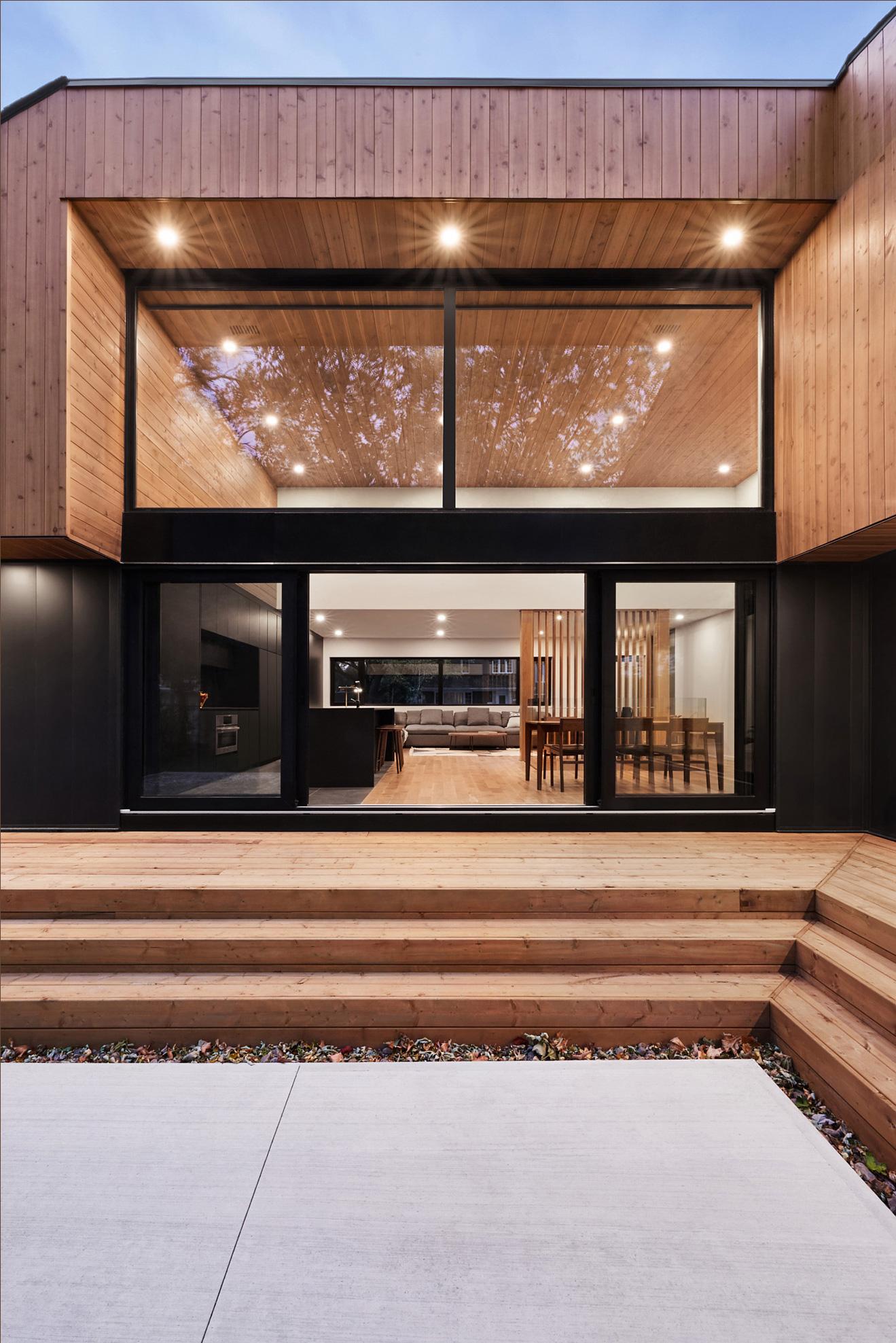 exterieur interieur maison porte-patio ouverte